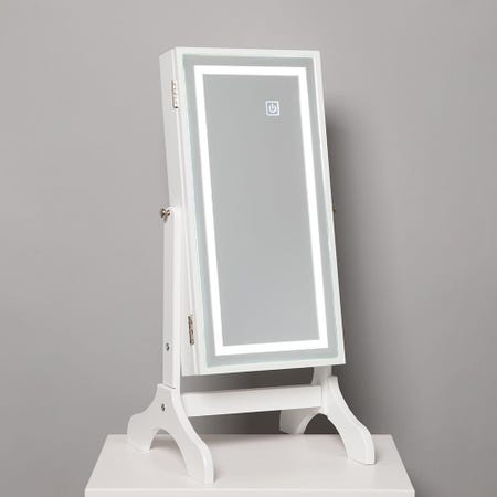 1027_KSP_Sophia_Table_Mirror_LED_Jewelry_Cabinet__White