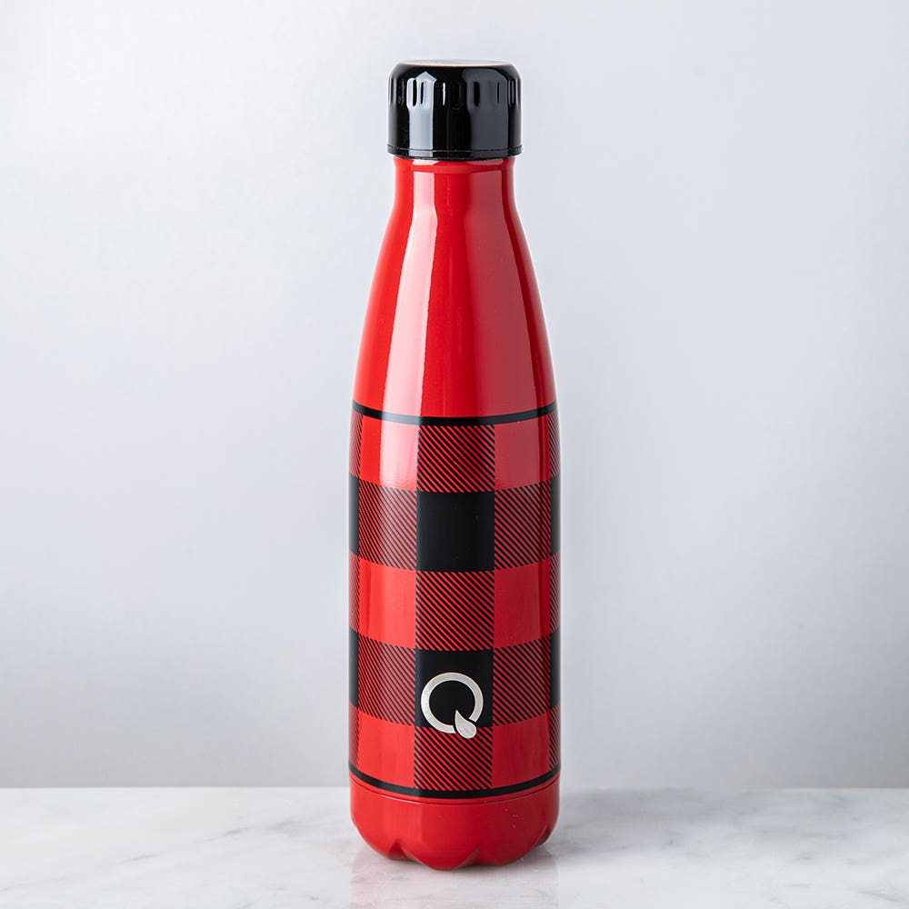 KSP Quench 'Plaid' 500ml Double-Wall Water Bottle (Red)