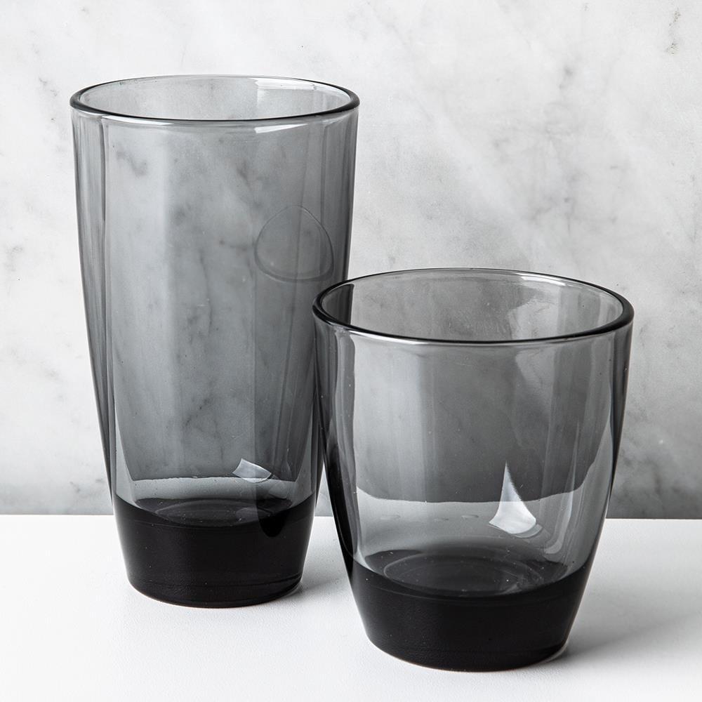 1152_Libbey_'Durham_Smoke'_Drinking_Glass_Combo___Set_of_16