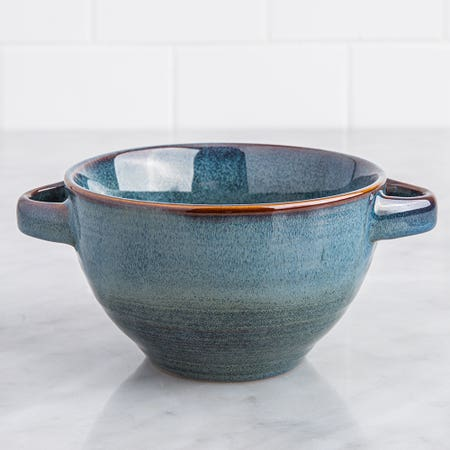 Ksp Patina Soup Bowl Blue