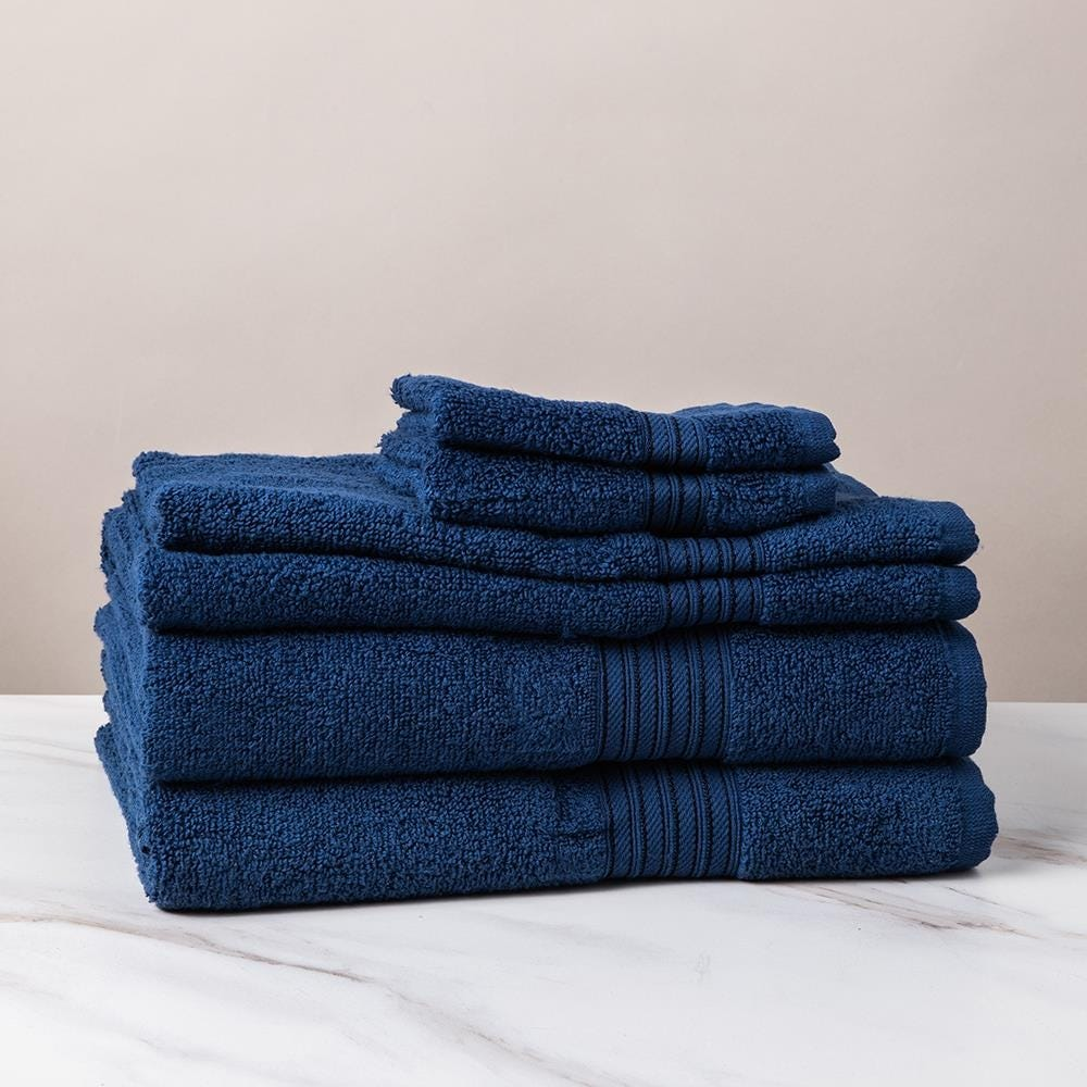 1211_Dophes_Quick_Dry_Zero_Twist_Cotton_Bath_Towel___Set_of_6__Navy