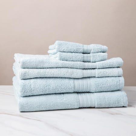 1212_Dophes_Quick_Dry_Zero_Twist_Cotton_Bath_Towel___Set_of_6__Light_Blue