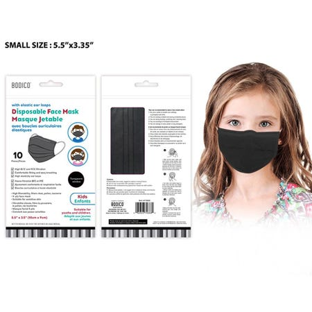 1230_Bodico_Ppe_'4_Ply'_Disposable_Face_Mask___Set_of_10__Youth_Black