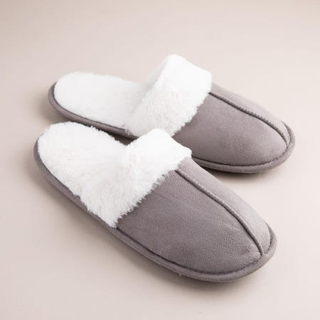 1286_Every_Sunday_Ultra_Soft_'Faux_Suede'_Mem_Foam_Slippers_Women__Grey