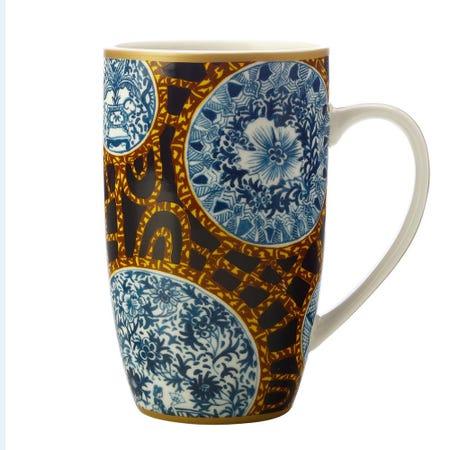 1343_Maxwell___Williams_Greg_Irvine_'Batik_Toile'_Porcelain_Coupe_Mug