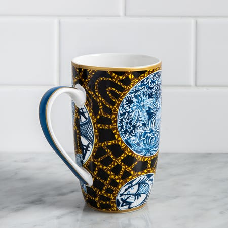 1343_Maxwell___Williams_Greg_Irvine_'Batik_Toile'_Porcelain_Coupe_Mug
