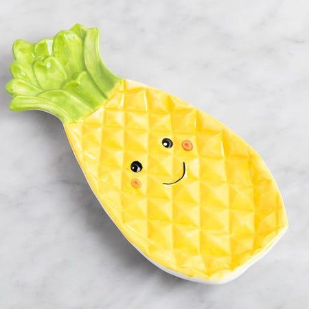 1357_Boston_Warehouse_Flea_Market_'Pineapple'_Ceramic_Spoon_Rest