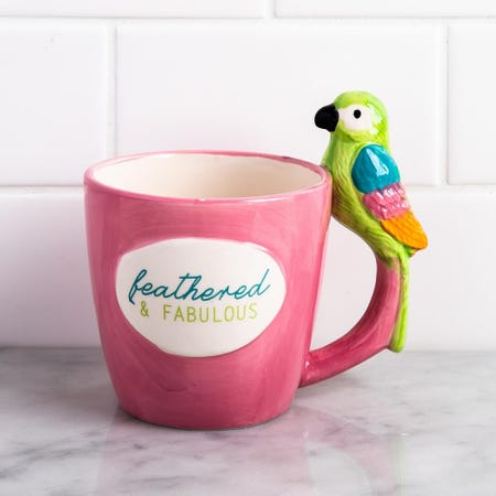 1370_Boston_Warehouse_Flea_Market_'Feathered___Fab'_Ceramic_Mug