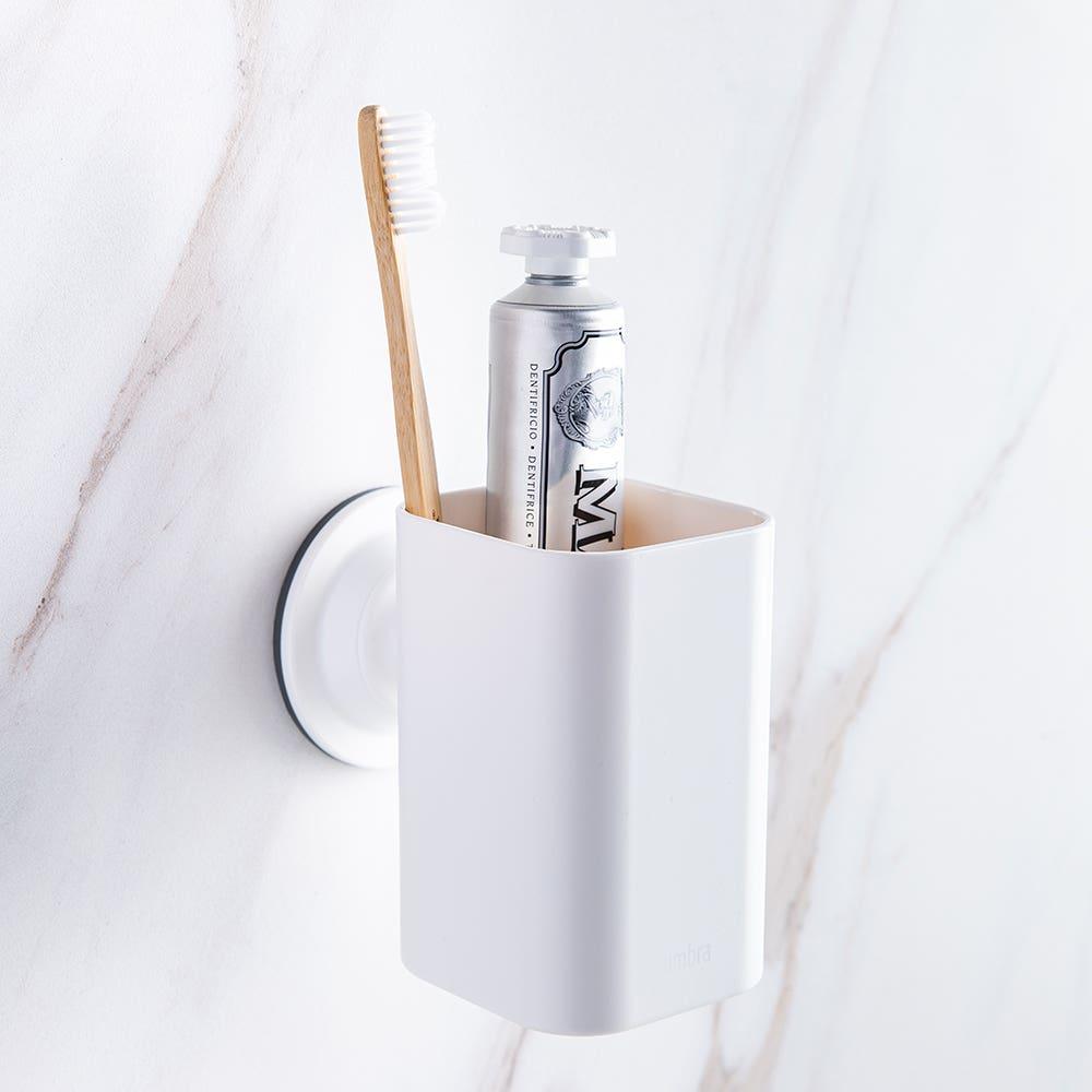Umbra Flex Sure-Lock Toothbrush Holder (White)