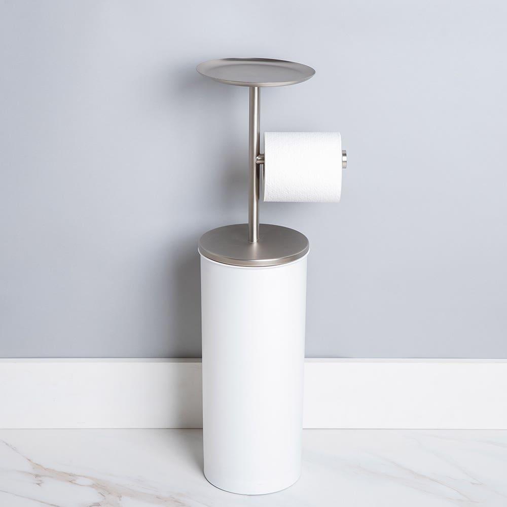 Umbra Portaloo Toilet Paper Reserve & Holder (White/Nickel)