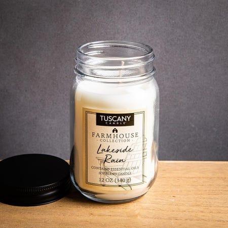 1393_Tuscany_Farmhouse_Soy_Blend_'Lakeside_Rain'_Glass_Jar_Candle