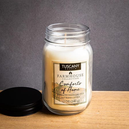 1395_Tuscany_Farmhouse_Soy_Blend_'Comfort_of_Home'_Glass_Jar_Candle