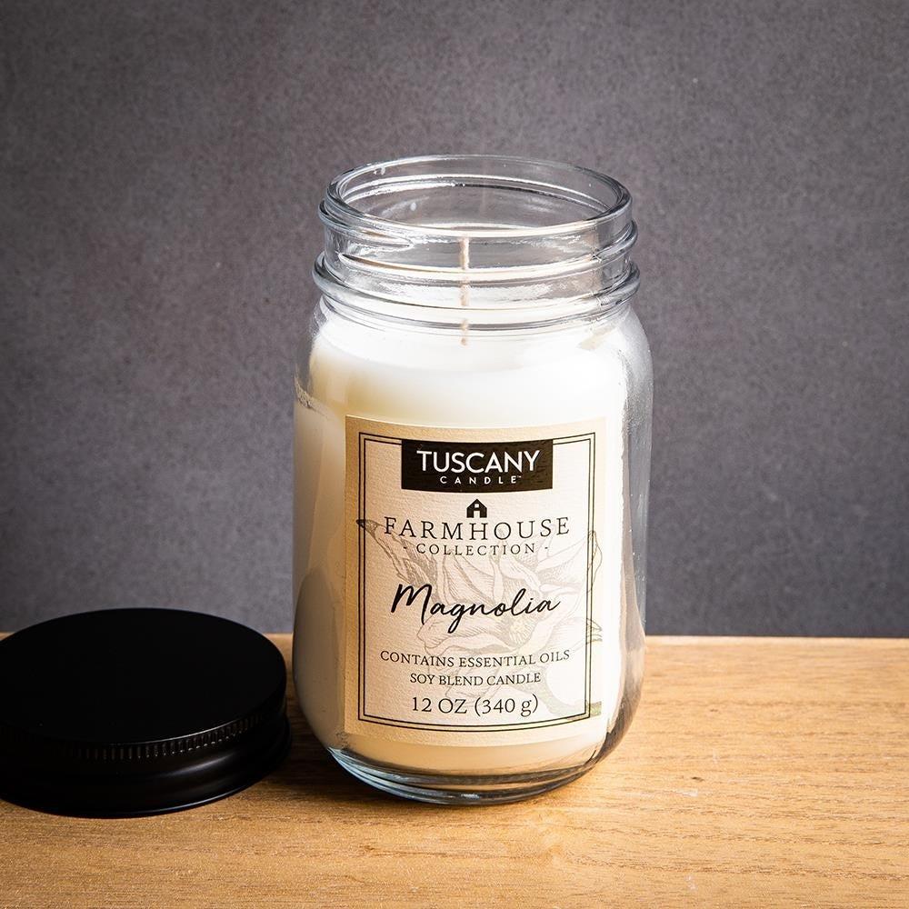 1399_Tuscany_Farmhouse_Soy_Blend_'Magnolia'_Glass_Jar_Candle