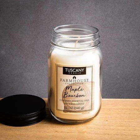 1400_Tuscany_Farmhouse_Soy_Blend_'Maple_Bourbon'_Glass_Jar_Candle