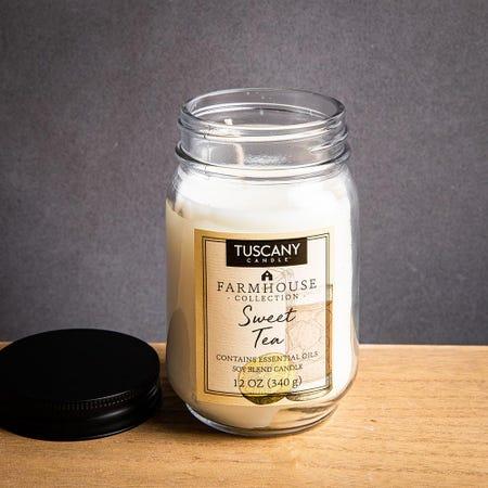 1401_Tuscany_Farmhouse_Soy_Blend_'Sweet_Tea'_Glass_Jar_Candle