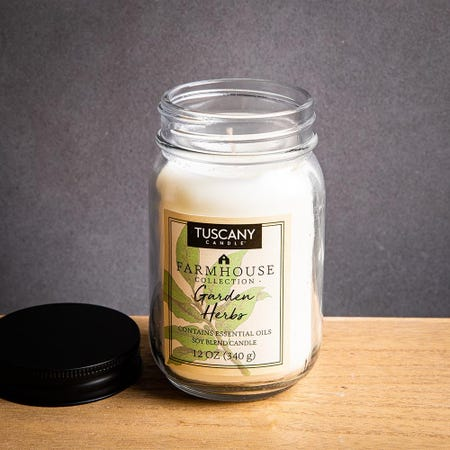1402_Tuscany_Farmhouse_Soy_Blend_'Garden_Herbs'_Glass_Jar_Candle