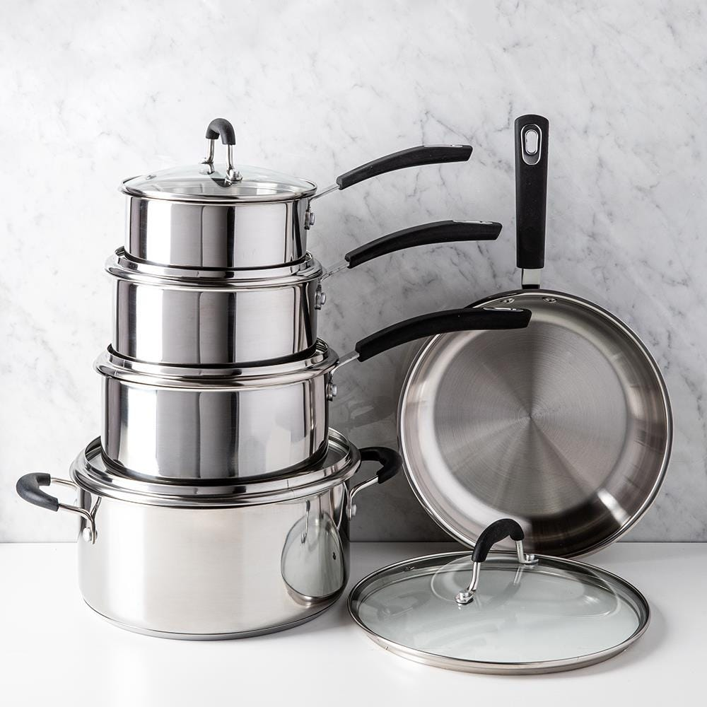 1415_Starfrit_Cookware_Combo___Set_of_10__Stainless_Steel