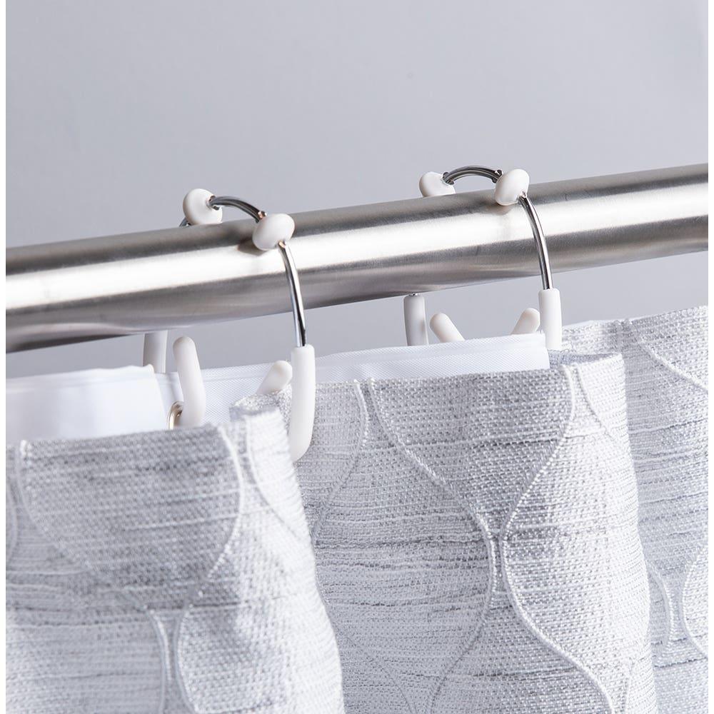 Umbra Flex Curtain Ring Double - Set of 12 (Chrome/White)