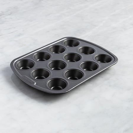 Good Cook Premium Non Stick Grey Non Stick Muffin Pan
