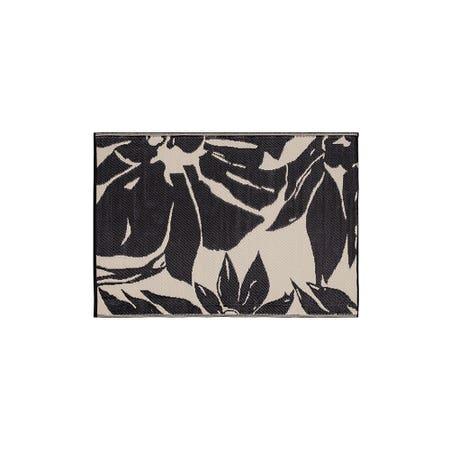 Ksp Mat Floral 4 X 6 Black