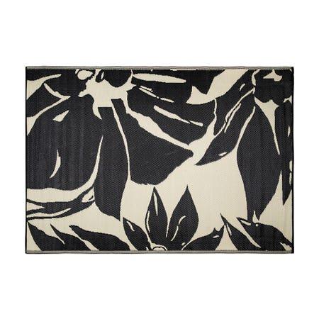 Ksp Mat Floral 6 X 9 Black