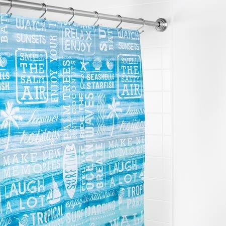 S C Fabric Ocean Rules Aqua