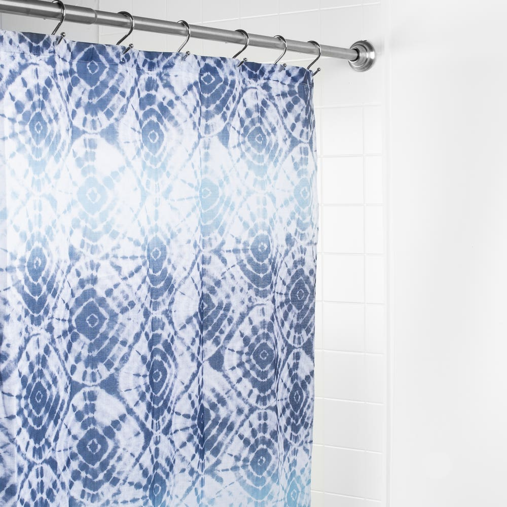 Splash Polyester 'Ambu' Shower Curtain (Blue)