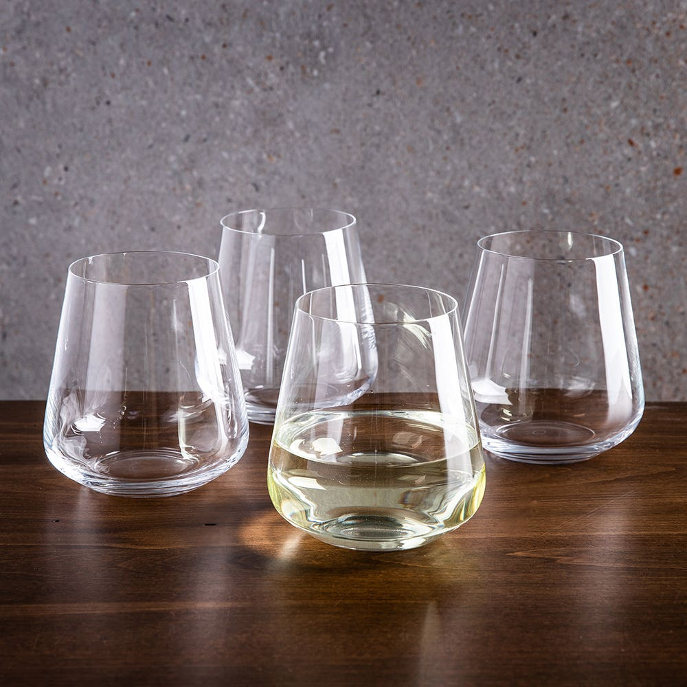 Trudeau Gala Stemless White Wine Glass - Set of 4