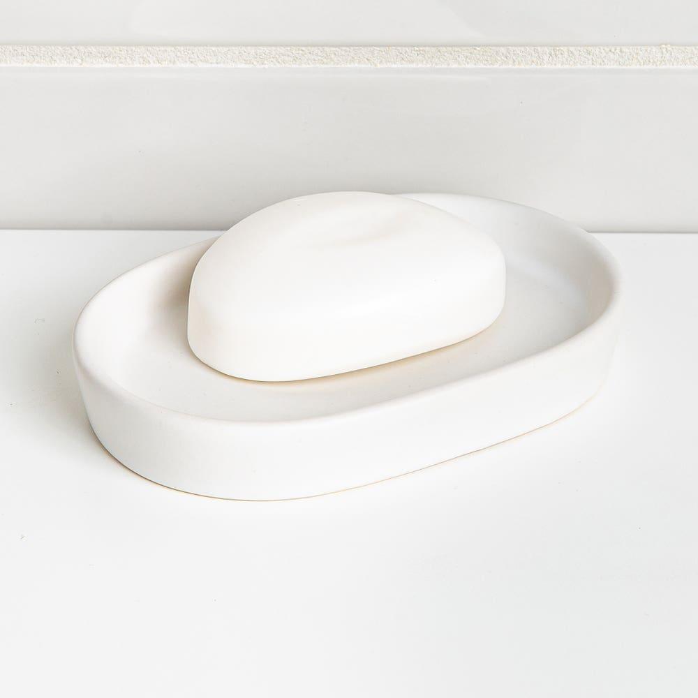 Moda At Home Anitra Ceramic Soap Dish (Matte White)