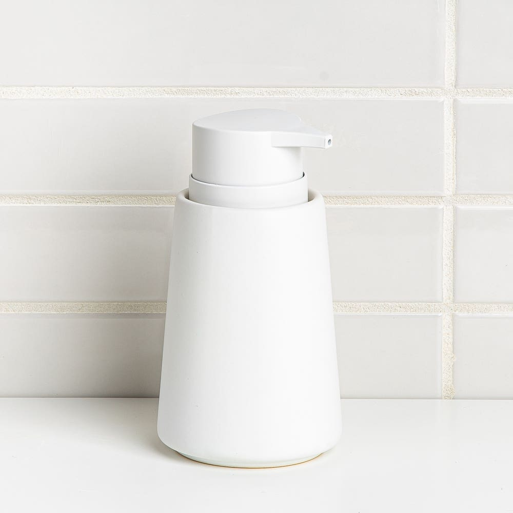Moda At Home Anitra Ceramic Soap Pump (Matte White)