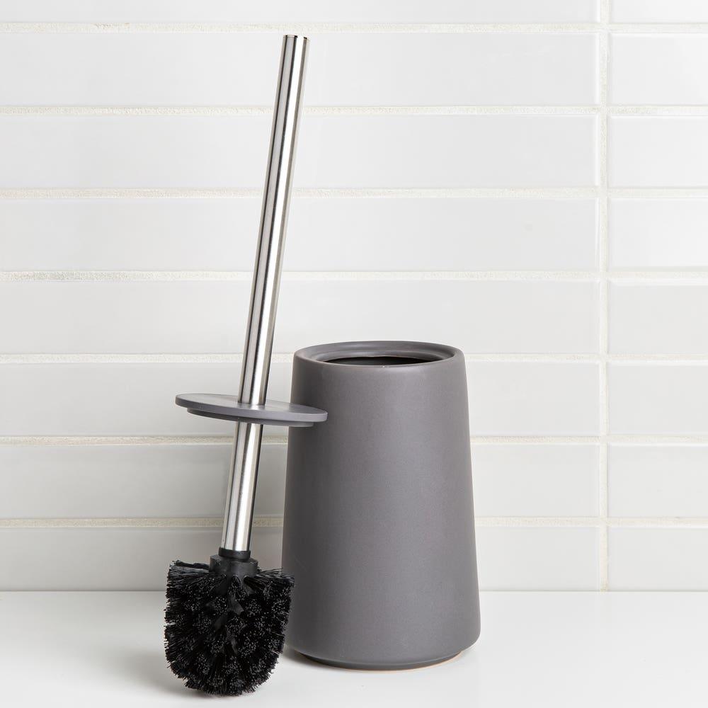 Moda At Home Anitra Ceramic Toilet Brush (Dark Grey)