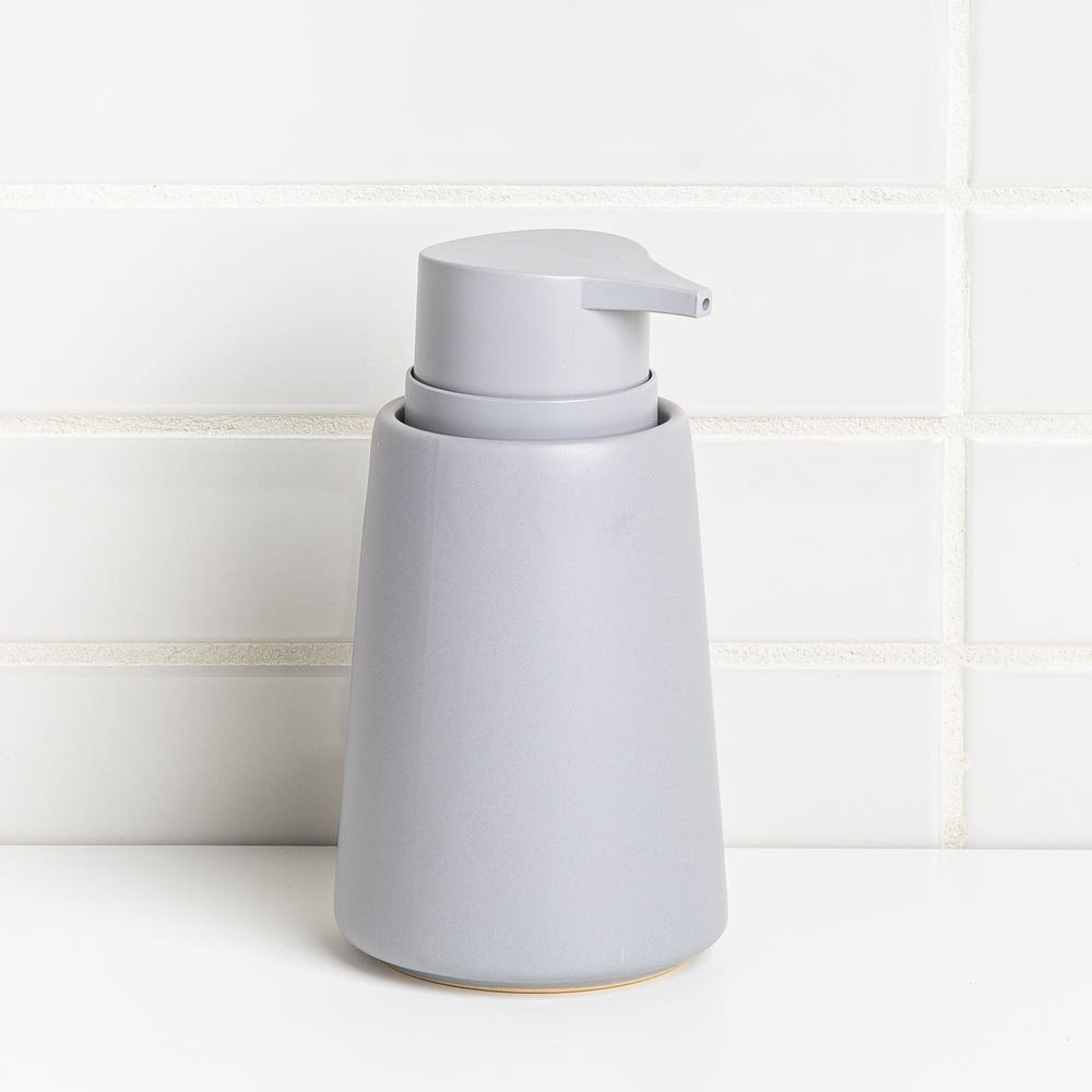 Moda At Home Anitra Ceramic Soap Pump (Light Grey)