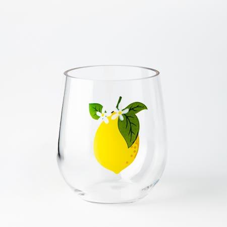 Stemless Wine Glass Lemon
