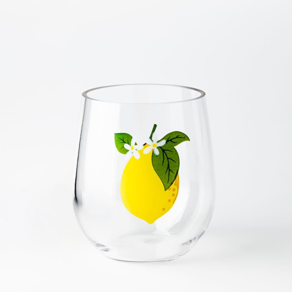 KSP Fun In The Sun 'Lemon' Stemless Wine Glass