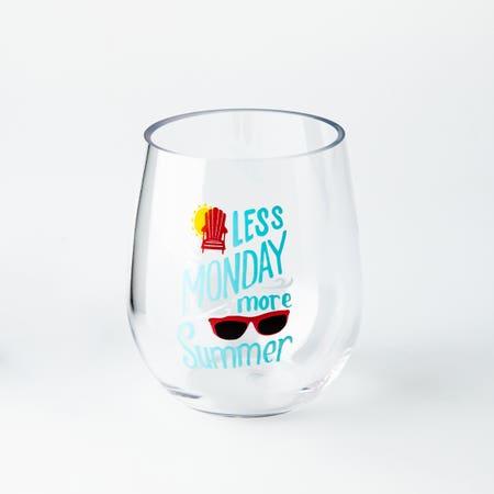 Stemless Wine Glass Summer