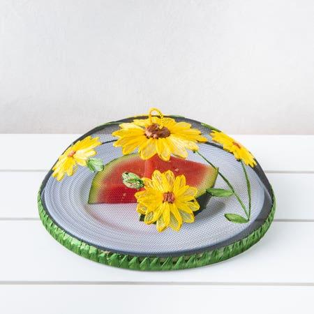 H E Mesh Food Tent Sunflower