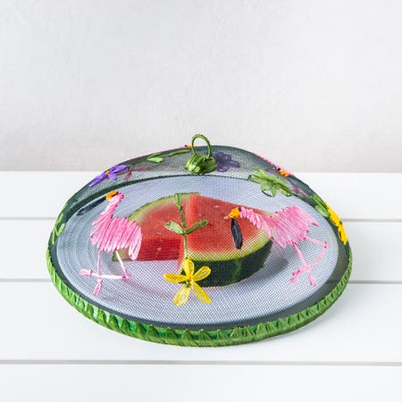 H E Mesh Food Tent Flamingo