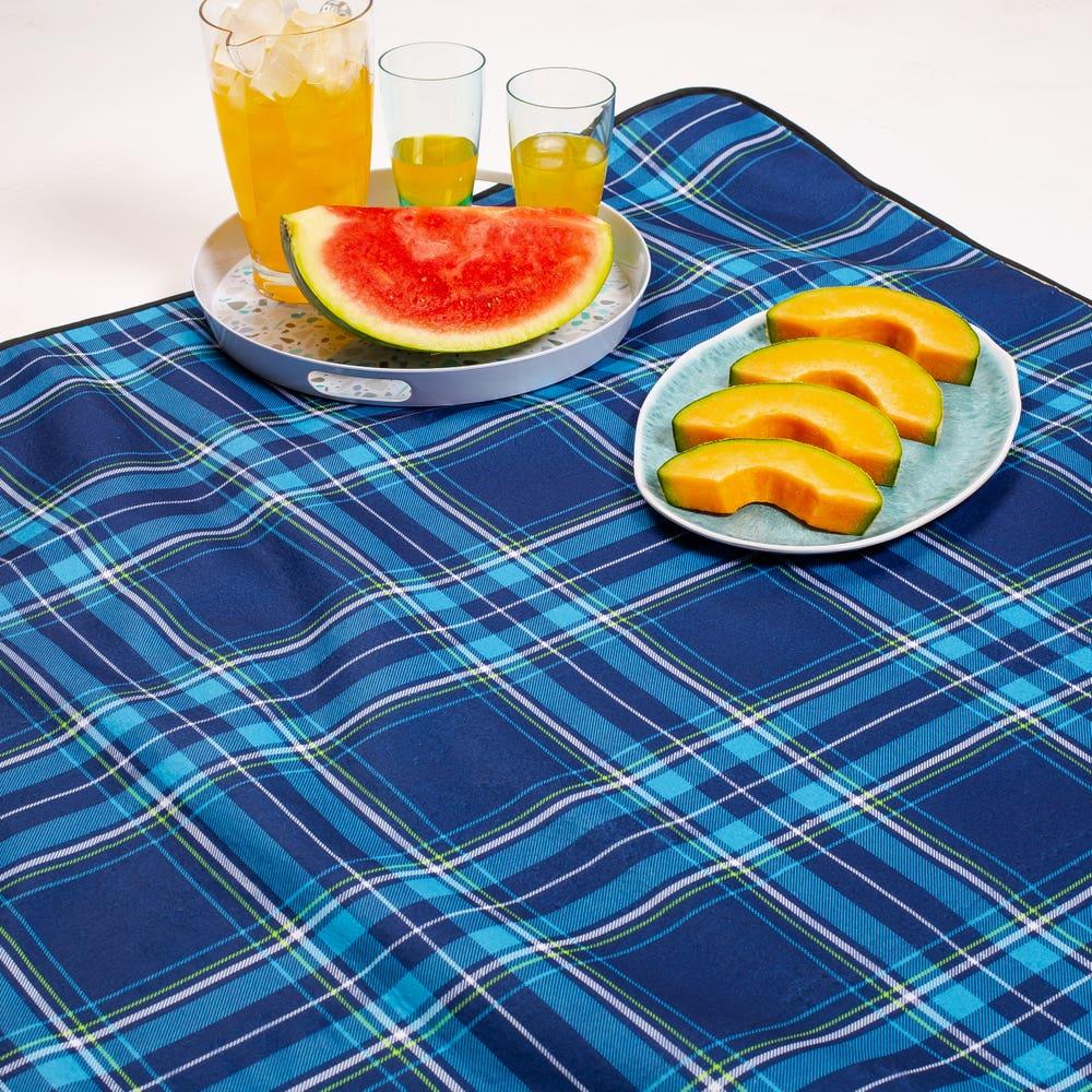 KSP Packable 'Plaid' Picnic Blanket (Blue)