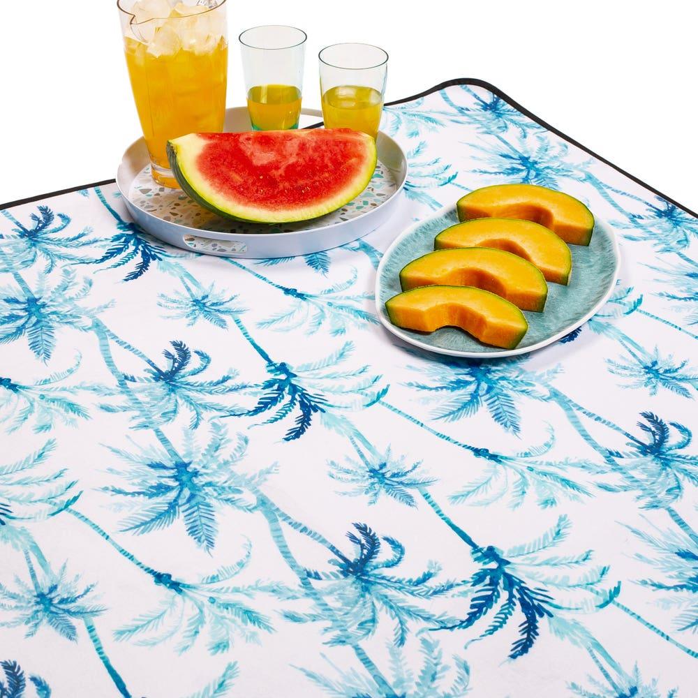 KSP Packable 'Palm Tree' Picnic Blanket (Blue)