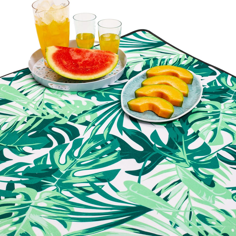 KSP Packable 'Tropical' Picnic Blanket (Green)