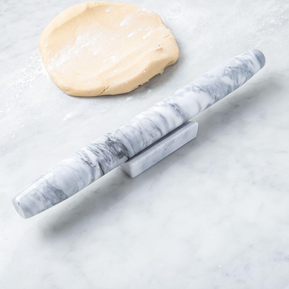 KSP Bake Marble French Rolling Pin (White)