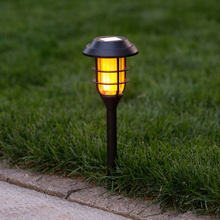 Solar Led Pathway Stake Blk