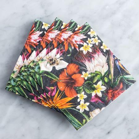 Paper Napkin Midnight Tropical