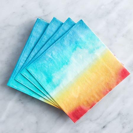 Paper Napkin Sunset