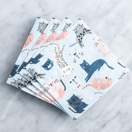Paper Napkin Cats