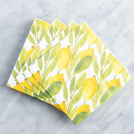 Paper Napkin Lemon