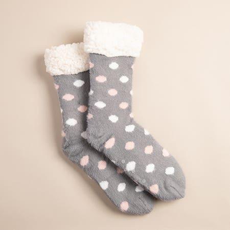 Kozie Socks Polkadot Grey