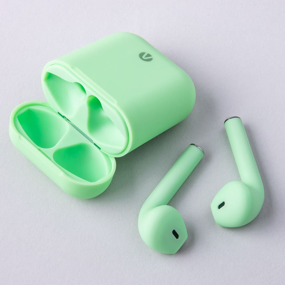 Accent Ax12 Wireless Airbuds with Charge Case (Green)