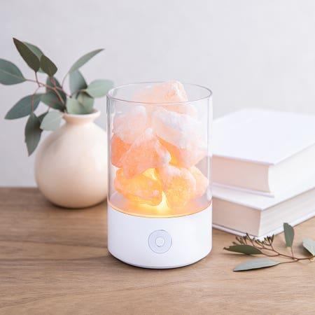 Aria Led Crystal Salt Lamp