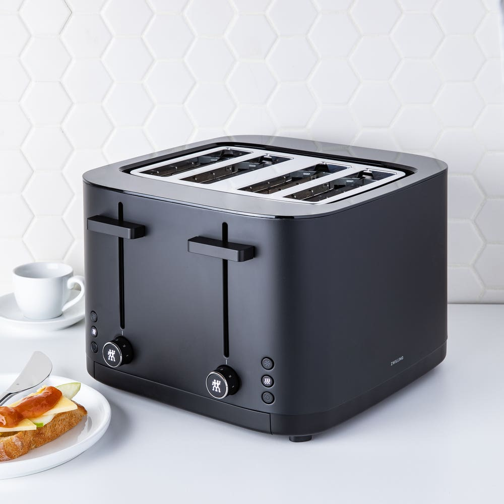 ZWILLING Enfinigy 4 Slice Toaster (Black/Silver)